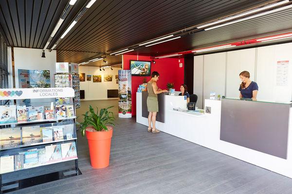 Intérieur du Bureau d'Information Touristique de Brétignolles sur Mer