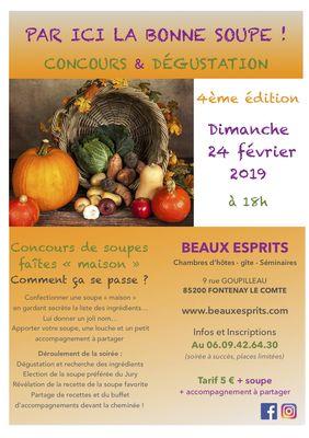 Soirée soupes 2019  Fontenay-le-Comte