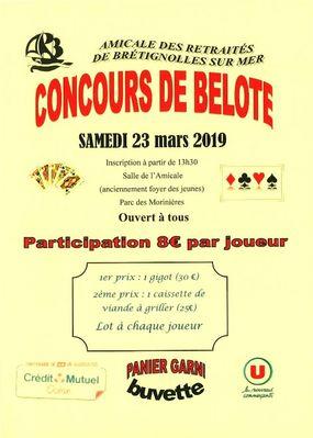 concours de belote 23er mars