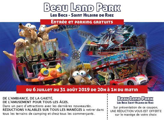 encart beau land park 2019