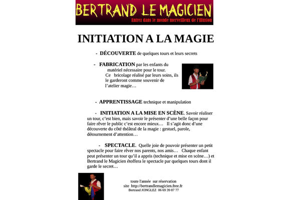 journee initiation - bertrand le magicien