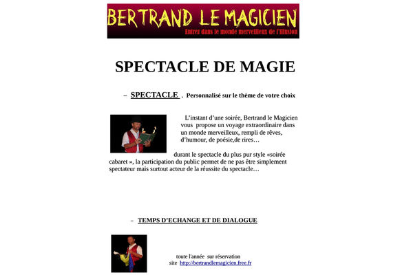 spectacle - Bertrand le magicien