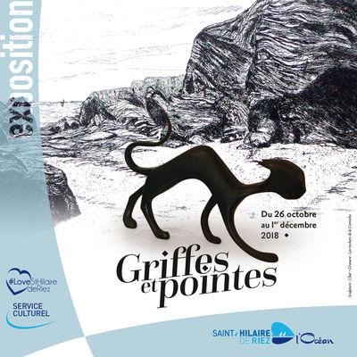 26.10.18 au 01.12.2018 exposition Griffes et Pointes-SAINT HILAIRE DE RIEZ