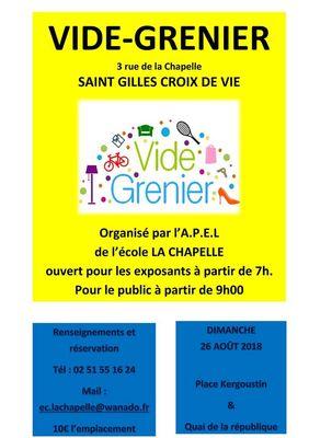 Vide Greniers Saint Gilles Croix De Vie Office De Tourisme Du