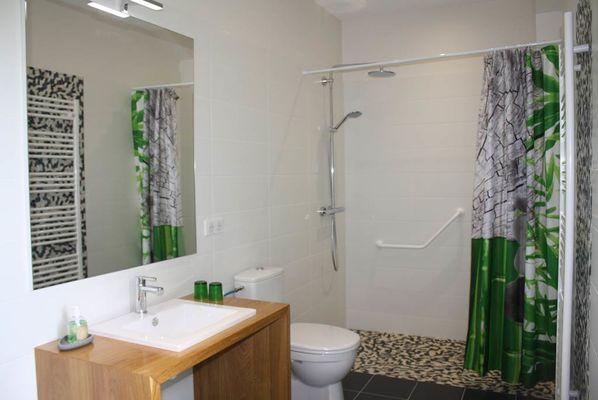 """salle de bain """"Galets de Garonne"""" accès PMR"""