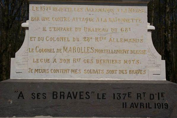 Stèle du colonel de Marolles