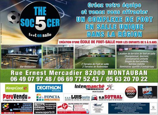 The 5 soccer  - foot en salle acitivites sportives montauban footbal montauban
