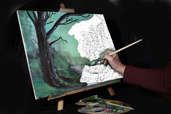 Exposition de peinture et sculpture