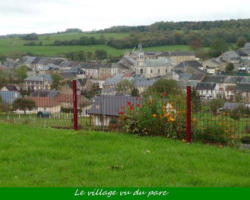 vue sur le village depuis le gîte