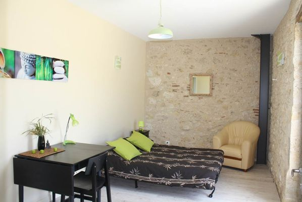 """chambre """"Galets de Garonne"""" lit supplémentaire"""