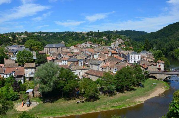Vue sur Laguépie depuis le Château Lou Viel Castel
