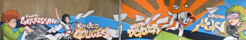 Fresque Street Art Villebourbon