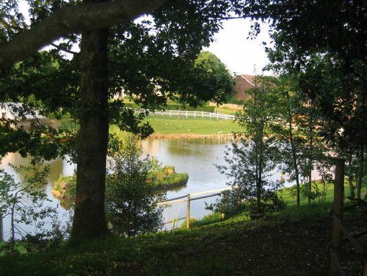 l'étang à proximité de la roulotte