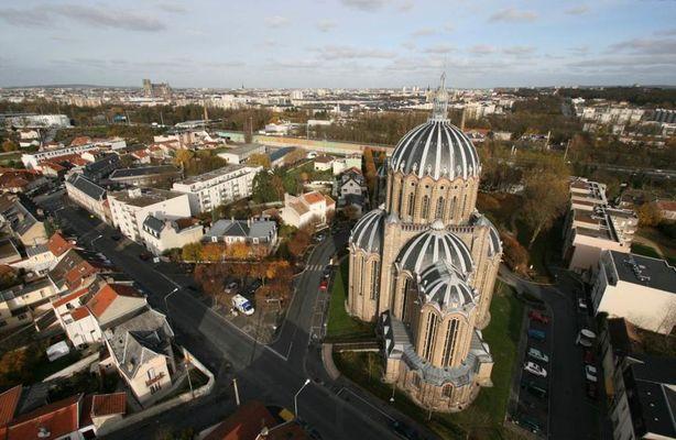 Basilique Sainte Clotilde - aerienne