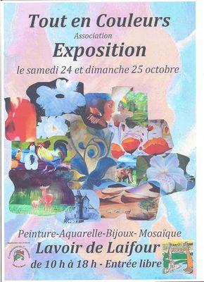 """Exposition de l'Association """"Tout en couleurs"""""""