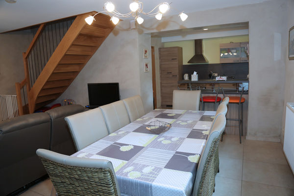 Gîte - Le Falihou - Salon, salle à manger & cuisine