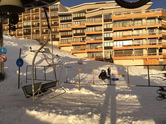 Télésiège du soleil au pied de l'appartement