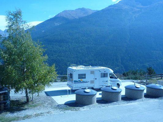 Borne Eurorelais pour camping-cars à Aussois
