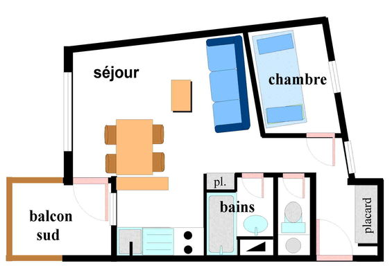 Saint Elme 2 - 2 pièces 4 personnes ** - SE2006