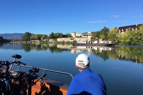 Balade en bateau à Ampuis