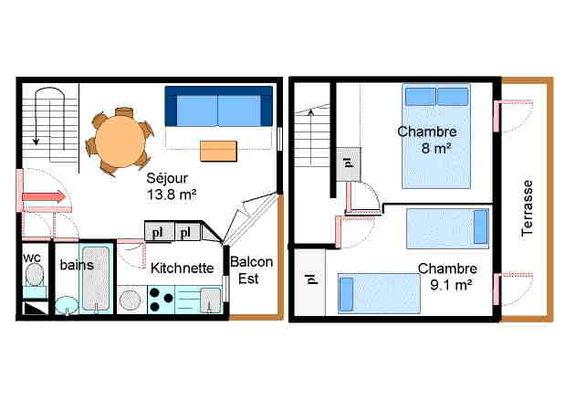 Chevallier - 3 pièces 6 personnes ** - CHB083
