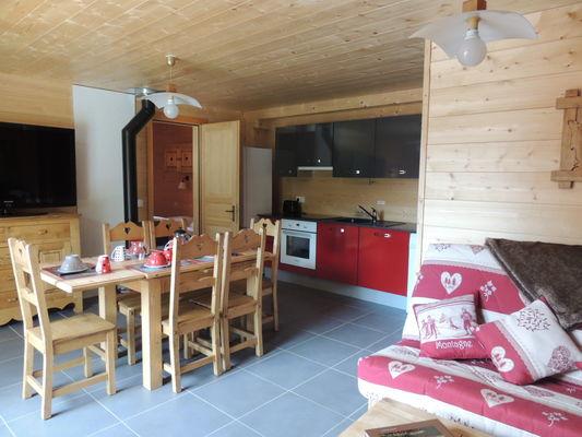 Salle à manger Chalet de Pont Peyron La Marmotte
