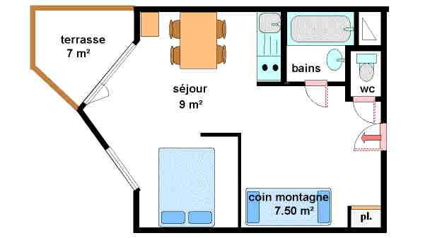 Hauts De Val Cenis - Studio 4 personnes ** - HVC226