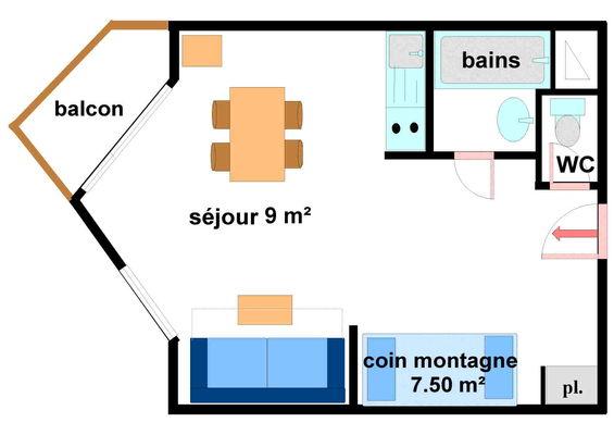 Hauts De Val Cenis - Studio 4 personnes ** - HVC233