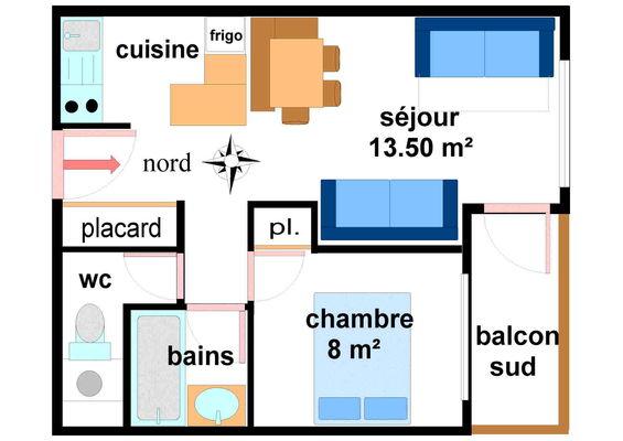Quartier Napoleon - 2 pièces 5 personnes - AR0001