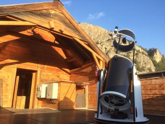 Télescope sur l'observatoire