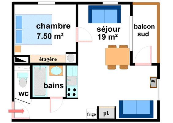 Quartier Napoleon - 2 pièces 4 personnes - CA0011
