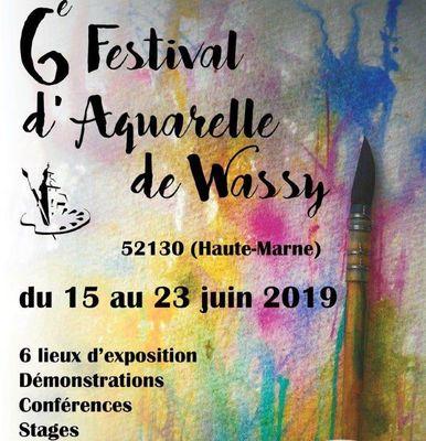 champagne 52 wassy festival aquarelle 2019..