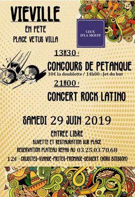champagne 52 manifestation vieville fete musique 2019.