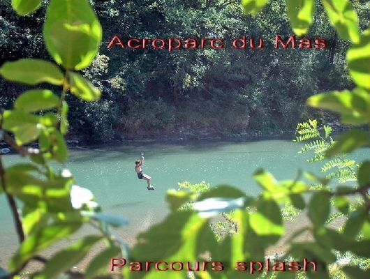 Acroparc du Mas - Parcours acrobatique et toboggan aquatique