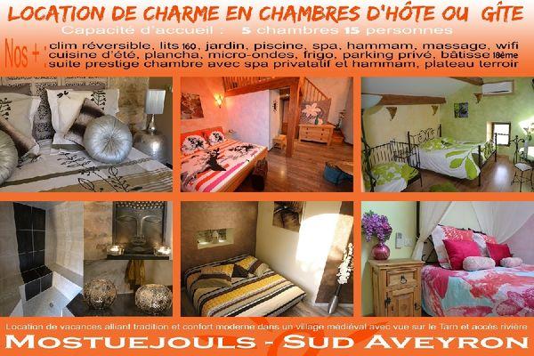Le Soleilo Chambres DHte Gte Spa  Mostujouls  Viaduc De