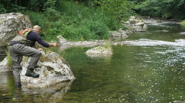 Pêche au Tenkara sèche