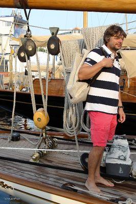 Sac marin en voile de bateau sur Moonbeam 4