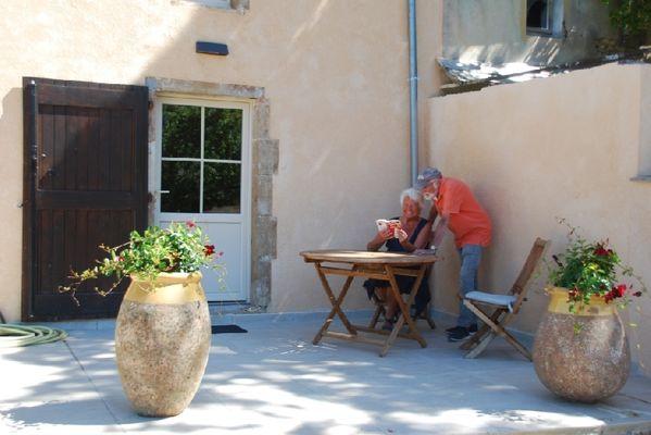 La Vieille Vigne: sur la terrasse
