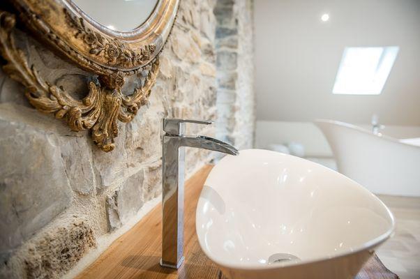 La salle de bain de la suite Rose des Sables