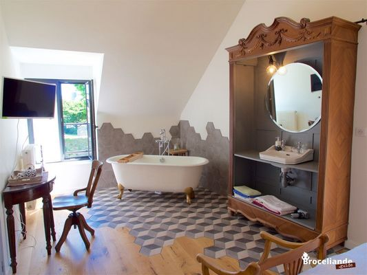 Chambres d'hôtes Les Hortensias - Chambre Comme avant - La Croix-Helléan - Morbihan - Bretagne