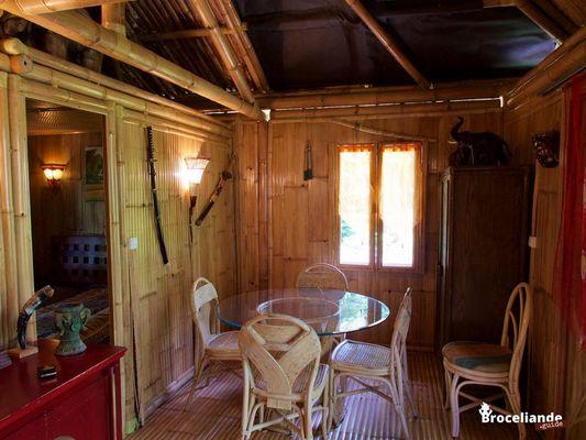Cabane Bambou-4 Camping d'Aleth St-Malo de Beignon Brocéliande