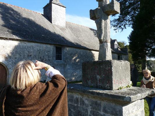 Calvaire de la chapelle Sainte-Catherine à Lizio - Morbihan - Bretagne
