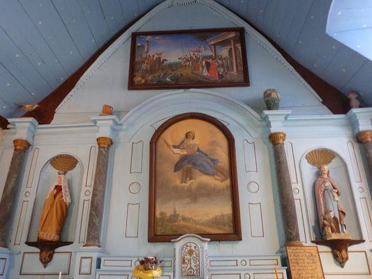 Choeur de la chapelle Sainte-Catherine à Lizio - Morbihan - Bretagne