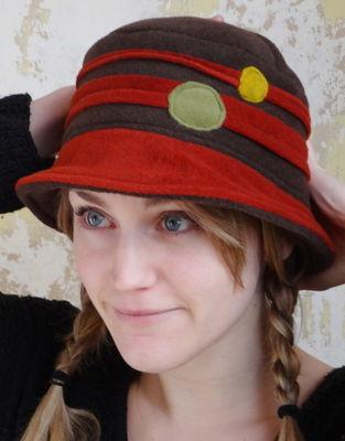 Chapeau bulle choco et brique