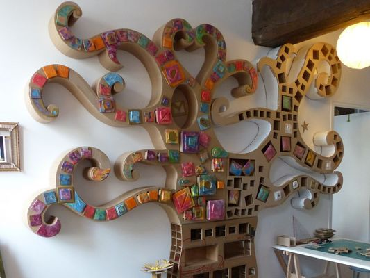 Karton de Breizh - Artisans d'art - Meubles en carton - Josselin - Morbihan - Bretagne