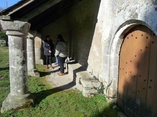 Le repos des pellerins, chapelle Sainte-Catherine à Lizio - Morbihan - Bretagne