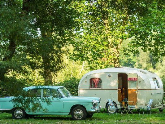 Caravanes de collection au Domaine du Roc - Le Roc Saint-André - Val d'Oust