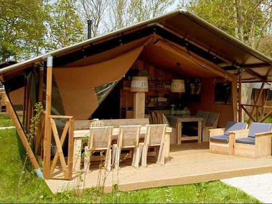 Tente désert lodge - Hébergement insolite - Domaine du Roc - Le Roc Saint-André - Val d'Oust - Morbihan - Bretagne