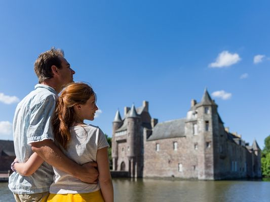 Chateau de Trécesson - visiteurs - Campénéac - Brocéliande - Bretagne