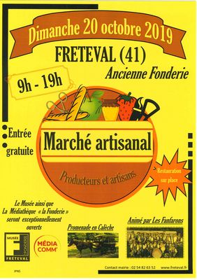 Marché artisanal à Fréteval
